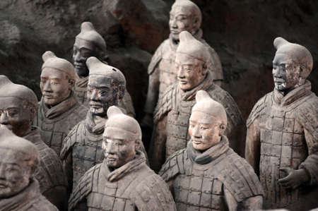 grave site: The famous terracotta warriors in Xian China