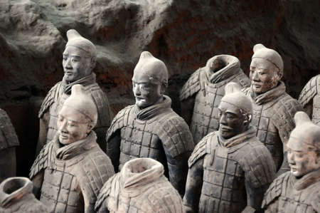 tumbas: Los guerreros de terracota famoso en China de Xian Editorial