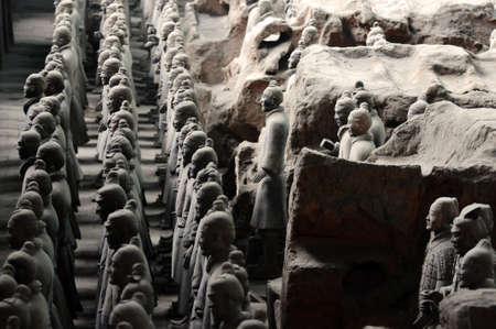 The famous terracotta warriors in Xian China