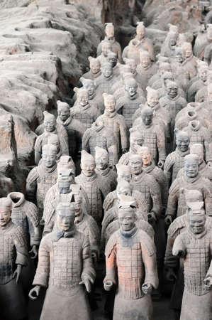 mausoleum: The famous terracotta warriors in Xian China