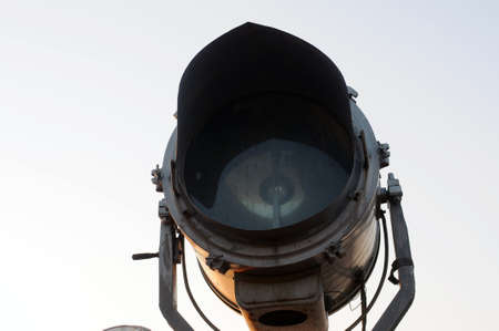 searchlight: Closeup view of a searchlight Stock Photo