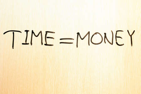 Handwriting of Time is Money Stock Photo - 11690611