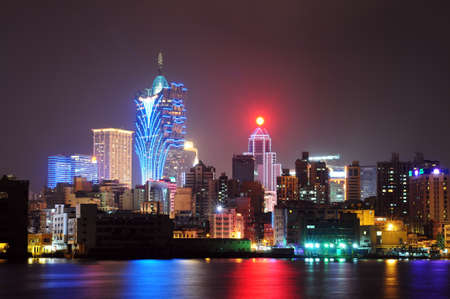 hotel casino: Night scenes of Macau