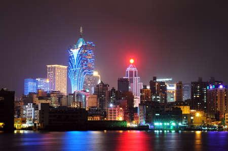 macau: Night scenes of Macau