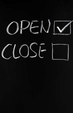 tickbox: Open and close checkboxes on blackboard, with open checked