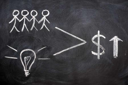Teamwork concept written with chalk on blackboard Stock Photo - 11888610