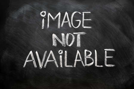 Image not available written in chalk on a blackboard Stock Photo - 11939314