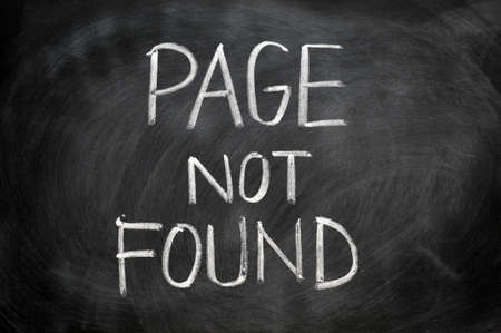 Page not found written in chalk on blackboard Stock Photo - 11939326