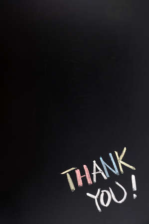 thank you card: Thank you background with copy space on a blackboard Stock Photo