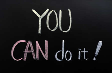 You can do it written on a blackboard photo