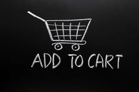 agregar: A�adir al concepto de carro tirado con tiza en una pizarra