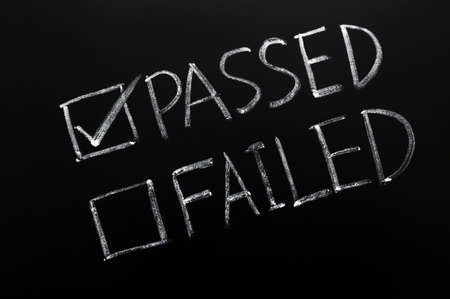 pass test: Check boxes of passed and failed with passed checked on a blackboard