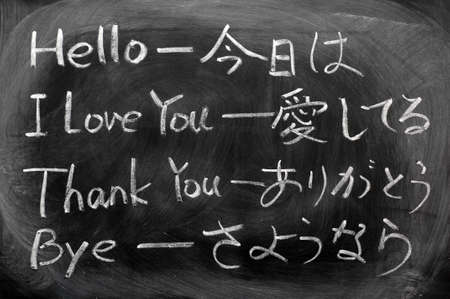 Learning Japanese from the everyday phrases of hello,I love you,thank you and bye photo