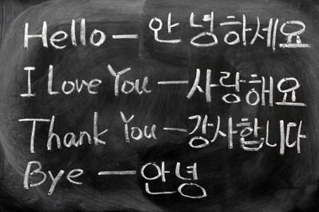 Learning Korean language from the everyday phrases of hello,I love you,thank you and bye