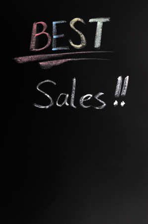 Best sales written in chalk on a blackboard Stock Photo - 12389525