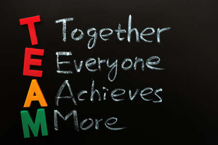 project management: Acronym of TEAM - Together Everyone Achieves More Stock Photo