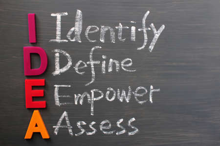 define: Acronym of IDEA - Identify, Define, Empower and Assess