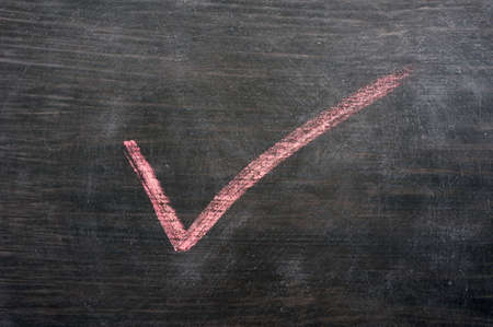 wood tick: Red tick drawn in chalk on a blackboard Stock Photo