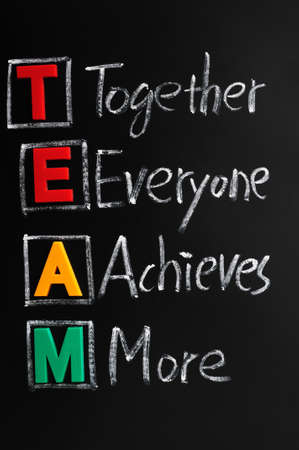 Acronym of TEAM for together everyone achieves more Stock Photo - 12389662