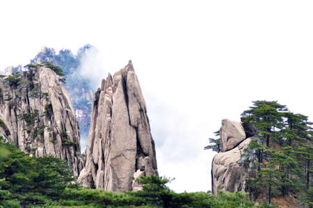 The famous Huangshan mountains in East China Standard-Bild