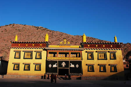 Landmark of a typical Tibetan historic lamasery photo