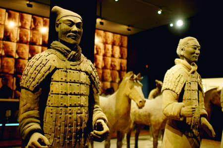 Famous Terracotta warriors and horses in Xian China