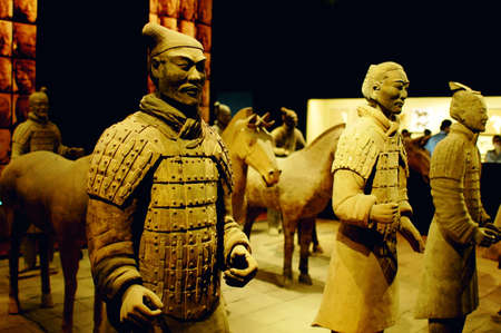 imperialism: Famous Terracotta warriors and horses in Xian China