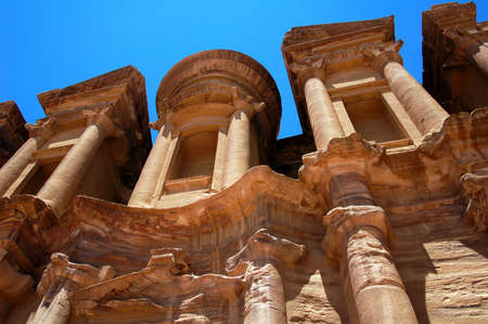 Scenery of the famous ancient site of Petra in Jordan photo