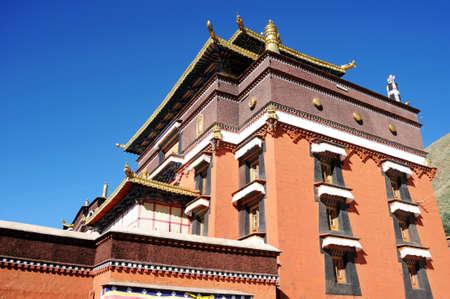 Landmark of a typical historic Tibetan lamasery