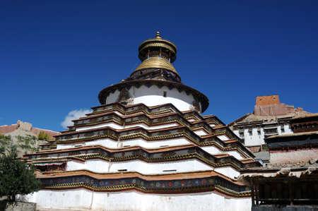 Famous landmark of Gyantse Baiju lamasery in Tibet