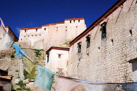 Landmark of a famous ancient Tibetan castle Stock Photo - 13436220