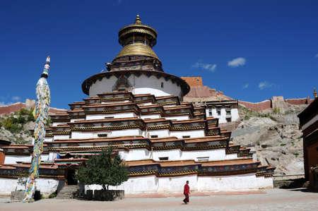 lamaism: Famous grand pagoda at Gyangze lamasery,Tibet