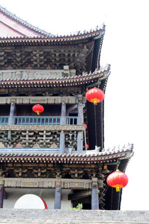 chinese drum: Details of a typical ancient building in Xian,China