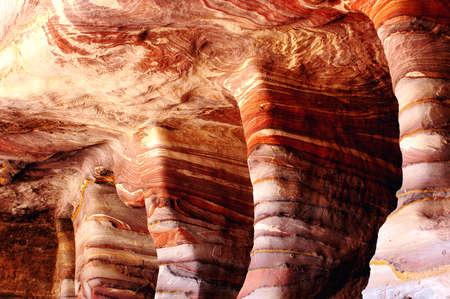 nabataean: Famous site of Petra treasury in Jordan
