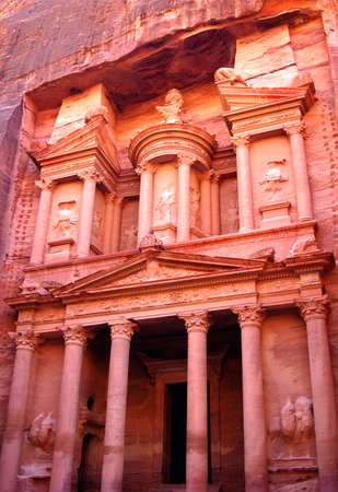 Petra treasury in Jordan photo