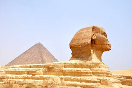 Famous site of Sphinx in Cairo,Egypt