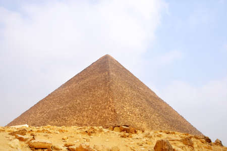 cheops: Landmark of the famous Pyramid in Cairo,Egypt Stock Photo