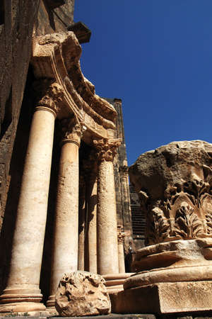 ancient relics: Ancient Roman time theater Relics and details in Syria Stock Photo