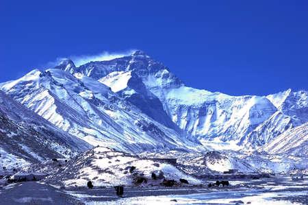 mount everest: Landscape of the Mount Everest Base Camp