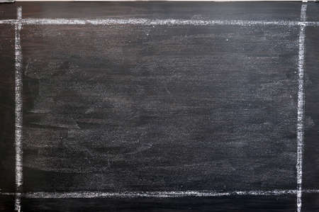 Smudged chalkboard background with a chalk drawing frame Standard-Bild