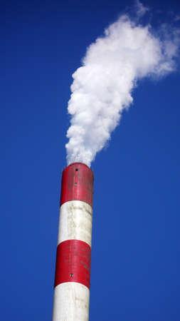 heat-engine plant against blue sky photo