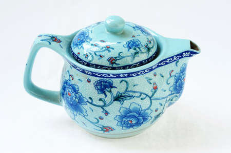 chinese tea pot: Traditional Chinese teapot on a white background Stock Photo