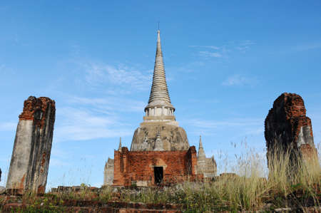 Ancient buddhist wat in Ayutthaya, Thailand photo