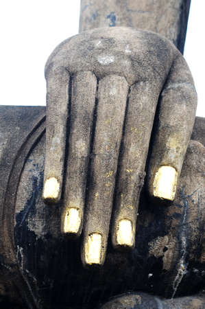 Statue of a Buddha's hand in the Historical Park of Sukhothai, Thailand Stock Photo - 20306348