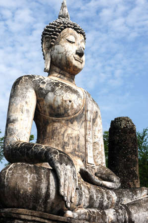 Statue of a deity in the Historical Park of Sukhothai, Thailand Stock Photo - 20306335