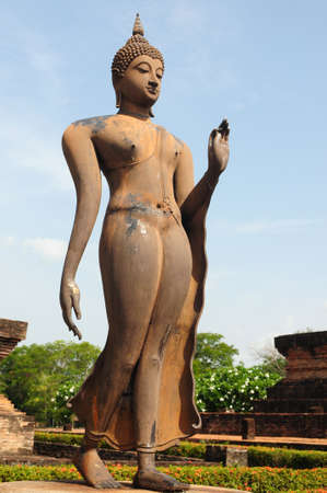 sukhothai: Statue of a deity in the Historical Park of Sukhothai, Thailand