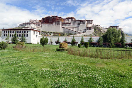 potala: Landmark of the famous Potala Palace in Lhasa,Tibet