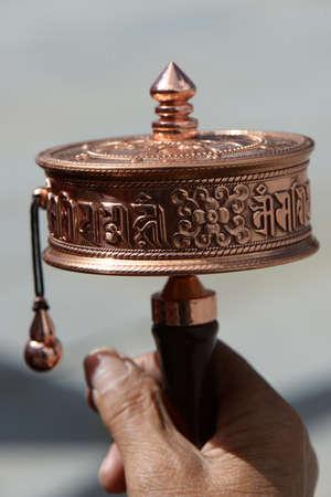 Prayer Wheel in Tibet