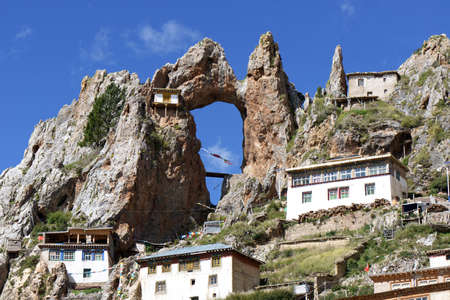 Tibetan lamasery Stock Photo