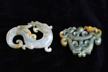 Chinese ancient jade carving Editorial